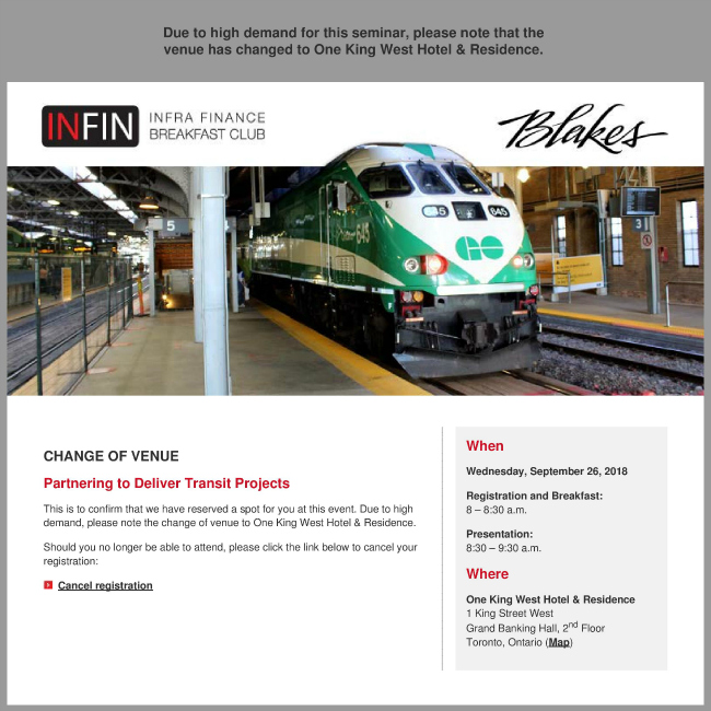 INFIN Canada: Partnering to Deliver Transit Projects